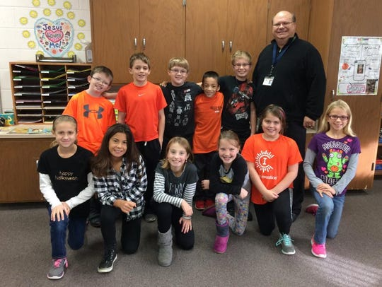 The fourth-grade band students at St. Gabriel Elementary