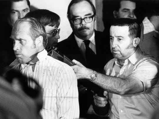 A disgruntled Tony Kiritsis held a shotgun to the head of Richard Hall, president of Meridian Mortgage Co., on Feb. 10, 1977, during the third day of a tense standoff.