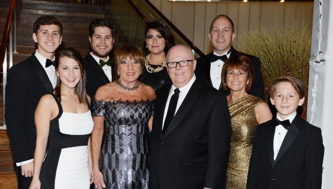 At their 57th Annual Ball, the Auxiliary of Robert Wood Johnson University Hospital (RWJUH) honored two distinguished individuals whose passion for RWJUH, commitment to community service and unwavering support of the Auxiliary has served as an inspiration to many: Stephen and Barbara Jones. The Jones family is pictured here.