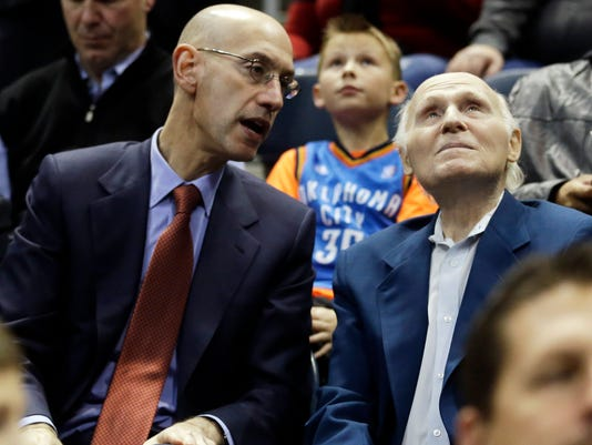 Adam Silver and Herb Kohl