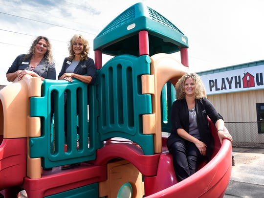 Staff members Kristen Vosberg, Cathrine Brattensborg-Brown and Kelly Haase have been preparing for the opening of the new Playhouse Child Care Center Inc. location in south St. Cloud.