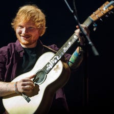 "Ed Sheeran performs ""Lego House"" from the album '+' live at Jobing.com Arena in Glendale on Aug 31, 2014."