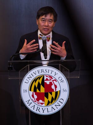 The University of Maryland President, Wallace D. Loh, speaks at a press conference in The Hotel at the University of Maryland addressing the death of Jordan McNair, a University of Maryland offensive lineman who died following a preseason workout in College Park. McnNair collapsed May 29 during a conditioning test and died two weeks later from heatstroke.