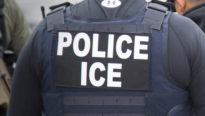 ICE agents illustration