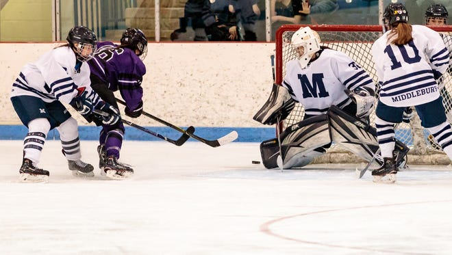 Action photo from Sunday's Middlebury-Amherst game.