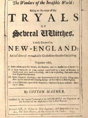 The cover of a pamphlet written in 1693 by Cotton Mather about the Salem Witch Trials.