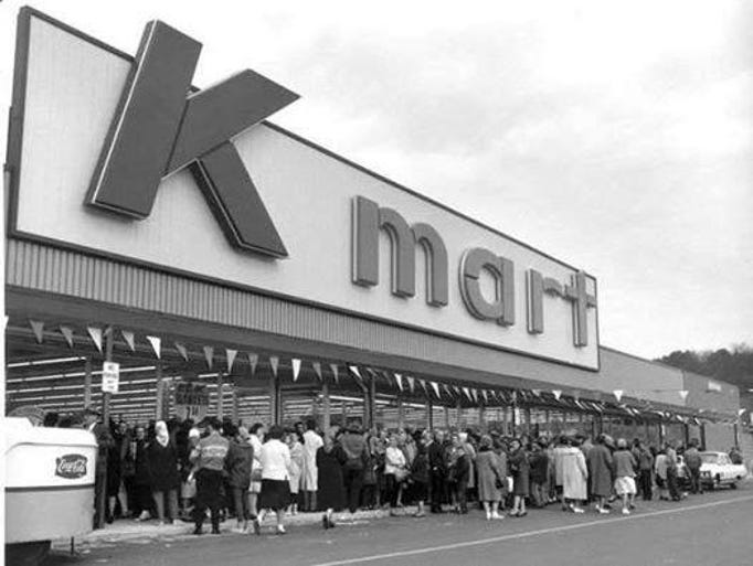 The Garden City Kmart is shown in busier times.