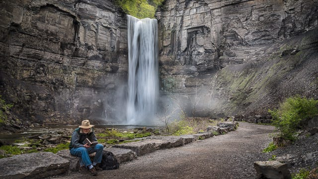 """Taughannock Falls State Park is a Finger Lakes treasure. While I enjoy photographing, my husband enjoys a good book in a peaceful setting."" - Joann K. Long of Bloomfield enjoys nature and wildlife photography in the Rochester and Finger Lakes area. More can be found at Joann-Long.pixels.com."