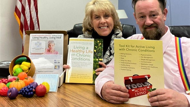 Bonnie Lewis, left, and Shawn Comfort, left, 'Living Healthy, Living Well' Instructors.