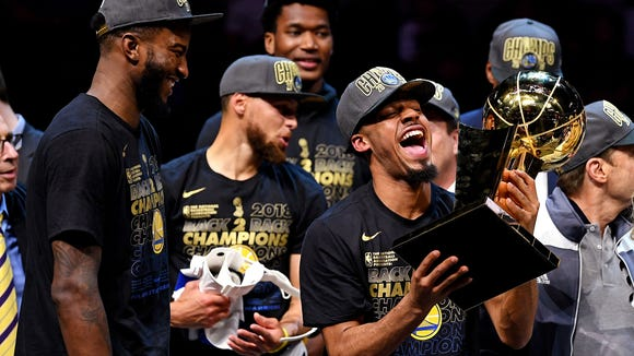 USP NBA: FINALS-GOLDEN STATE WARRIORS AT CLEVELAND S BKN CLE GSW USA OH