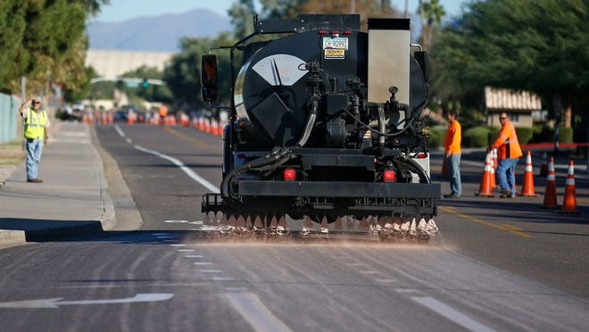 A pavement-restoration project on 92nd Street from Redfield to Thunderbird roads started Nov. 11. Scottsdale uses a rating system to track street conditions and prioritize street-maintenance projects.