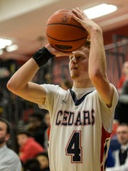 Lebanon senior Logan Blouch will be relied upon for his 3-point shooting Wednesday in the Cedars' first-round district tournament game at Harrisburg.