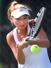 Oakland's Kylie Humphrey reached the Class AAA state