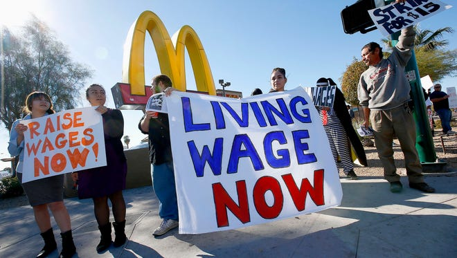 Fast-food worker protests the past three years have helped drive a movement to raise wages to $15 an hour in several states and cities.