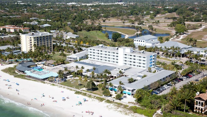 Naples Beach Hotel & Golf Club can be seen from overhead Thursday, April 7, 2016, in Naples.