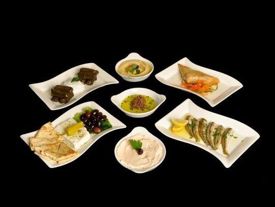 A selection of appetizers from Zorba's Mediterranean