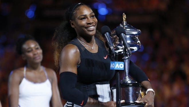 Serena Williams won her Open era record 23rd Grand Slam singles title at last year's Australian Open.
