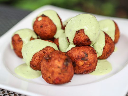 Marketplace's cauliflower fritters crafted by sous