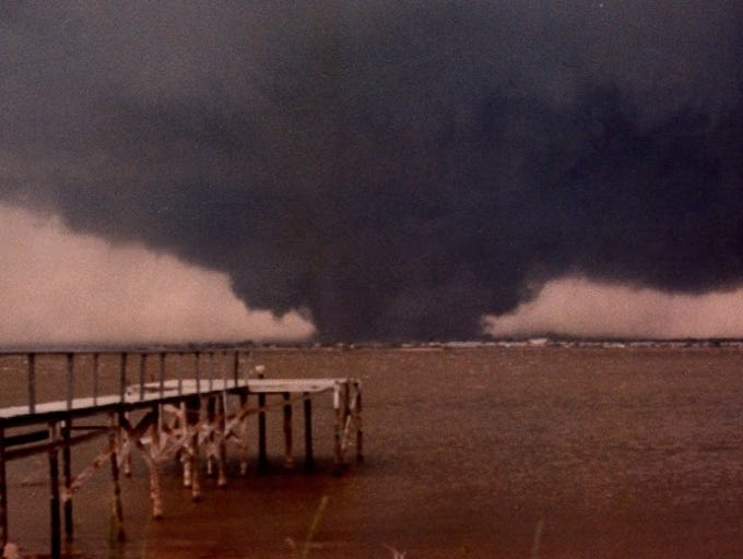 Contributed photo of one of the tornadoes on Terrible