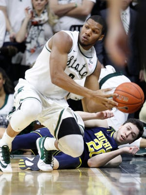 Clark re-emerged as a factor for the Spartans on Tuesday.