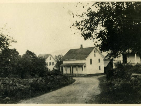 A circa 1850 photograph of a stretch of what is now Ladentown Road between Call Hollow Road and Route 202 in Pomona.