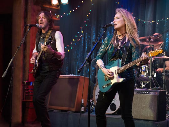 "Rick Springfield and Meryl Streep in a scene from ""Ricki and the Flash."""