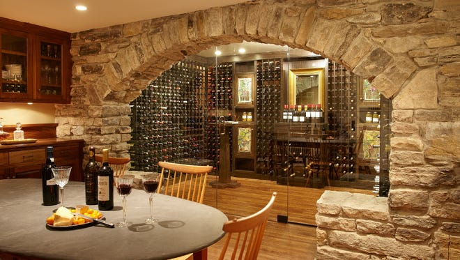 Wine cellars are trending to be in more central areas of a home.