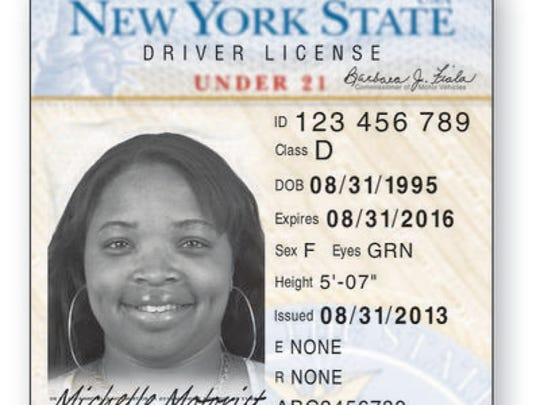 The new New York driver's license for drivers under 21.