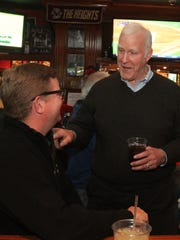 Bob Hyland talks to longtime regular Matt Richter on