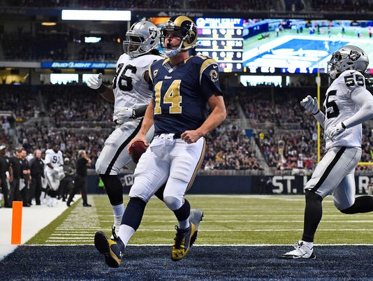 NFL: Oakland Raiders at St. Louis Rams
