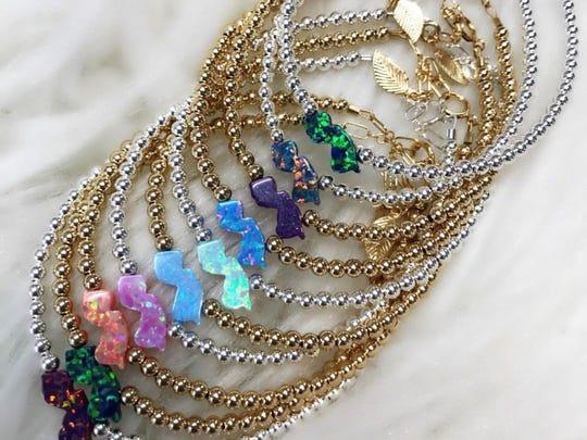 Hazel Boutique's Opal New Jersey bracelets are the