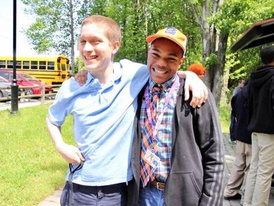 Adam, 14, and a dozen classmates joined New Jersey
