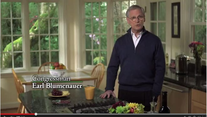 A still grab from the Blumenauer campaign video posted on YouTube