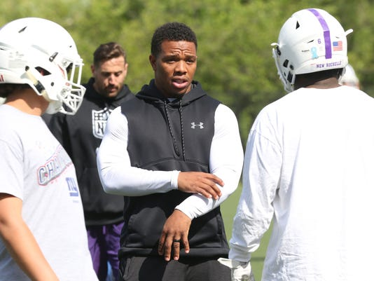 RAY RICE COACHING NEW ROCHELLE FOOTBALL