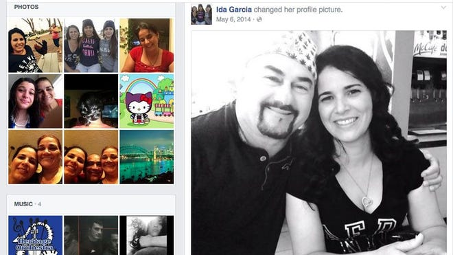 This Facebook screen grab shows Jose Garcia Rodriguez with wife Ida Garcia.
