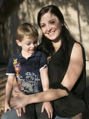 Kimber Biggs sometimes talks to her 4-year-old son