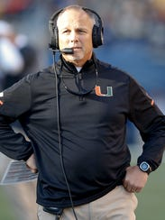 Miami Hurricanes head coach Mark Richt.