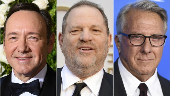 Kevin Spacey, Harvey Weinstein and Dustin Hoffman have