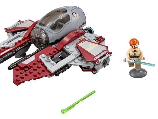 The Obi-Wan Jedi Interceptor Lego set has 215 pieces