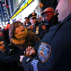 A protest in New York's Times Square on Dec. 4.