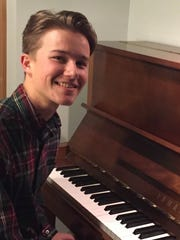 Luke Haaksma, a senior at Asheville High School, received a $1,000 scholarship from Diana Wortham Theatre to continue his study of piano.