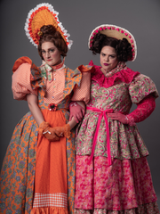 Sarah Gallo, left, as Gabrielle, and Abby Gershuny as Charlotte in Tuacahn's production of 'Cinderella'