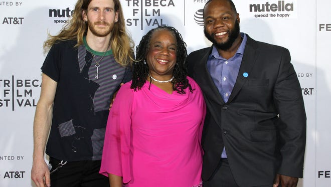 Ryan Gregory,  Valerie Horton and Leon El-Amin attend the 'For Flint' premiere at Regal Battery Park Cinemas on April 22, 2017 in New York City.