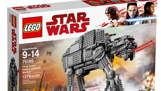 The Lego First Order Heavy Artillery Walker from 'The Last Jedi' puts a new spin on the Imperial AT-ATs from the original movie trilogy.