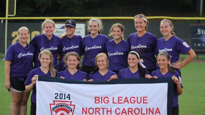 The District 5 Big League state-championship softball team.