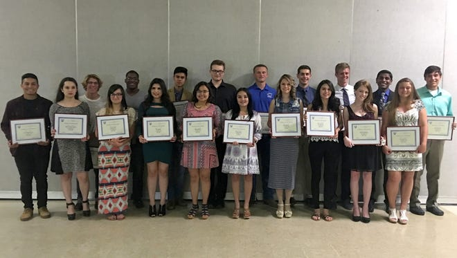 The Elks celebrated with its 2015-2016 students of the month.