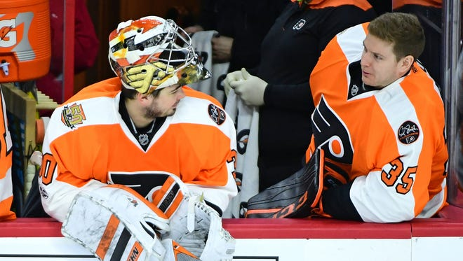 Uncertainty surrounds both Michal Neuvirth, left, and Steve Mason for next season.