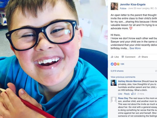 After son with down syndrome isnt invited to birthday party mom after son with down syndrome isnt invited to birthday party mom writes letter stopboris Gallery