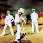 Primus is fronted by Les Claypool (center).