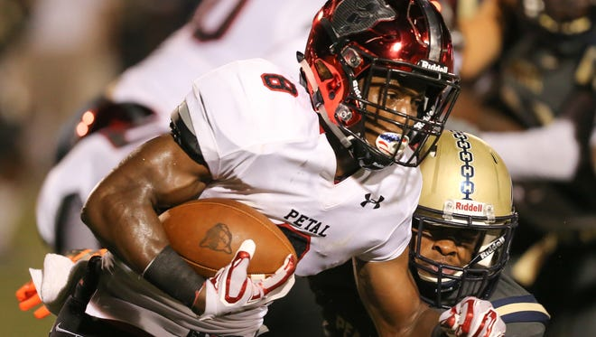 Stephon Huderson and the Petal Panthers played at Meridian on Friday.